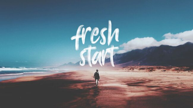 fresh start ahead